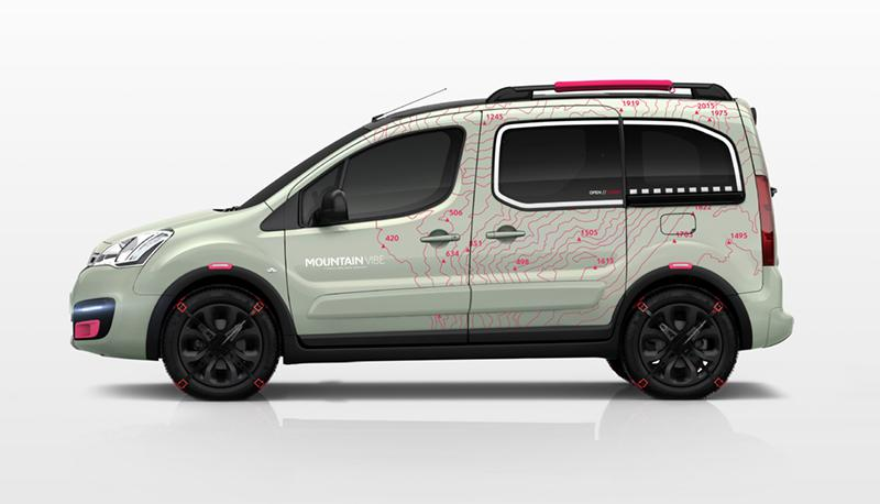 Berlingo Mountain Vibe 2015, koncept, profil