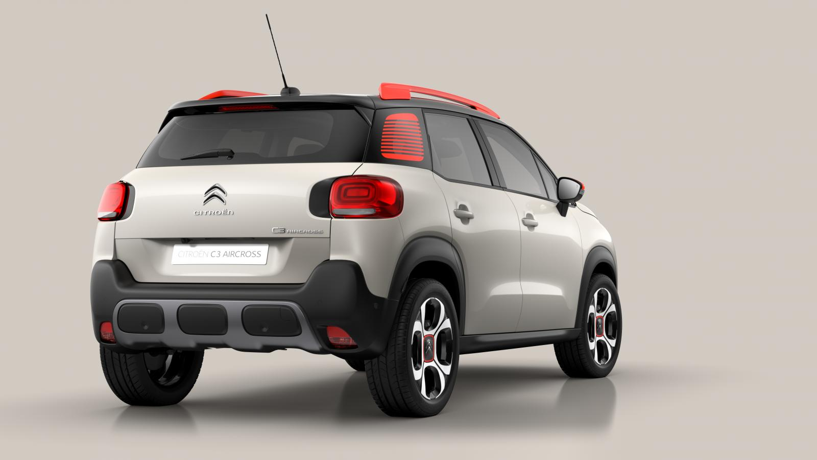 SUV Compact C3 Aircross, pohled 3/4 zadní